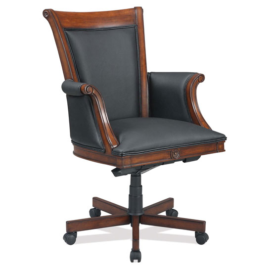 Officesource Black Leather Executive High Back With Ruby